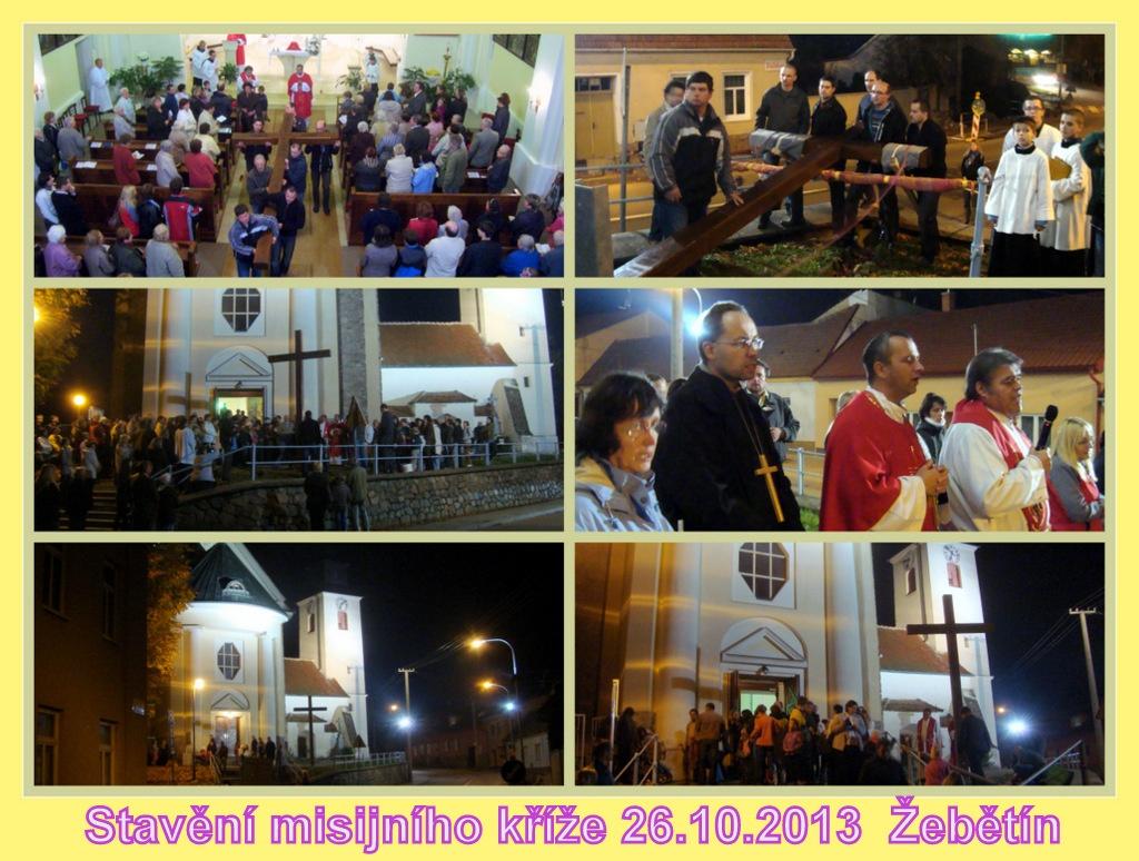 Stavění misijního kříže