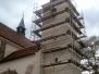 Oprava věže kostela
