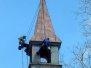 Oprava věžičky kostela